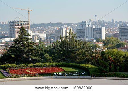 Ankara, Turkey. October 5Th 2016 - View Of Ankara From The Ataturk Mausoleum, Anitkabir, Monumental