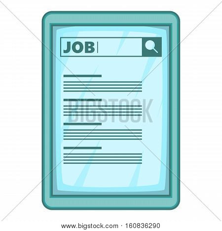 Job searching icon. Cartoon illustration of job searching vector icon for web