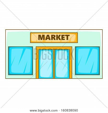 Market icon. Cartoon illustration of market vector icon for web