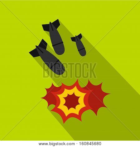 Bomb icon. Flat illustration of bomb vector icon for web