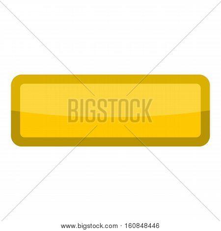 Yellow rectangle button icon. Cartoon illustration of yellow rectangle button vector icon for web