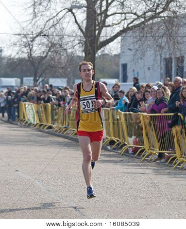 Winner of  Paddock Wood Half Marathon