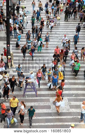 Sao Paulo, Brazil - Dec 06 2014 : An estimated 20 million people live in greater Sao Paulo, making it the third-largest metropolis on earth. On Dec 06, 2014 Sao Paulo, Brazil.