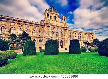 Beautiful View Of Famous Natural History Museum With Park And Sc
