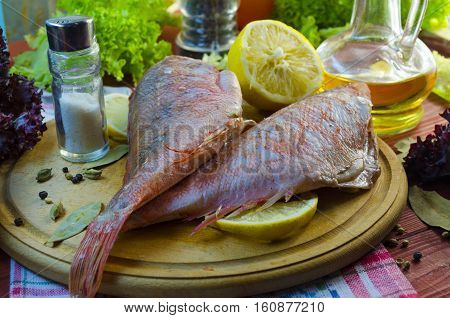 raw sea bass ready for healthy cooking