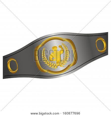 boxing belt icon over white background. vector illustration