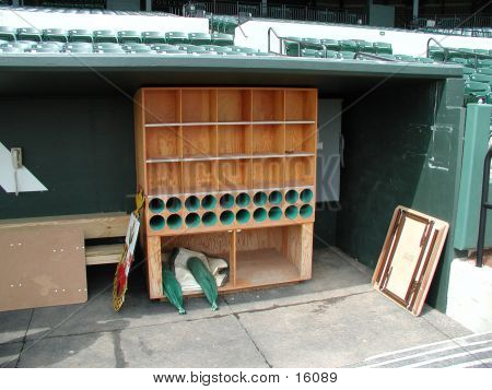 Bat Holder In Dugout
