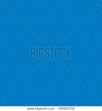 Floral ornament. Blue Neutral Seamless Pattern for Modern Design in Flat Style. Tileable Geometric Vector Background.