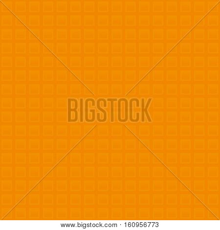 Waffle pattern. Orange Neutral Seamless Pattern for Modern Design in Flat Style. Tileable Geometric Vector Background.