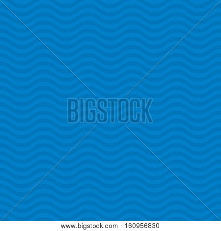 Wavy pattern. Blue Neutral Seamless Pattern for Modern Design in Flat Style. Tileable Geometric Vector Background.
