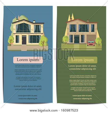 Brochure Template Design Concept Of Architecture Real Estate
