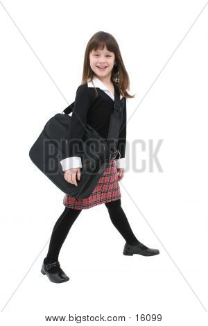 Child (girl) With Laptop Case