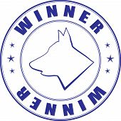Sketch Of Stamp For Certificate Of Canine Club poster