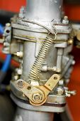 foto of campervan  - vintage RV carburetor and fuel lines closeup - JPG