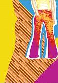 Jeans.retro Background For Design