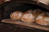 Постер, плакат: Свежий хлеб в печь