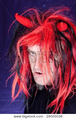 Red hair Night Demon, studio shot