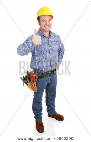 Real Construction Worker - Thumbsup