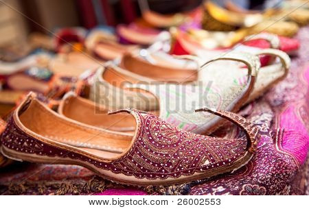Authentic Iranian woman's shoes in Vakili bazaar, Shiraz, Iran