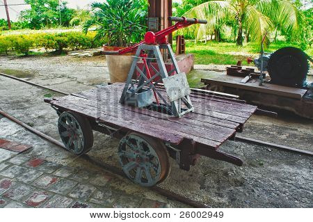 Old Railway Handcar Pump Trolley