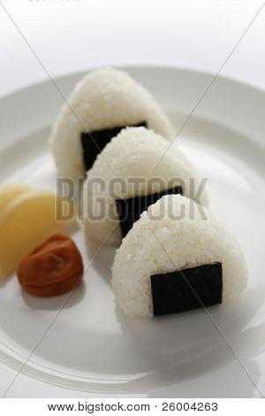 Japanese food (A rice ball or Onigiri)