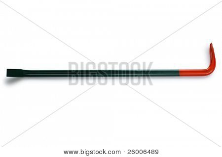 Crowbar, Wrecking bar, Pry bar, on white background , Emergency supplies