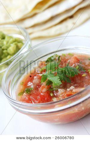 Salsa Mexicana , Tortilla , Guacamole