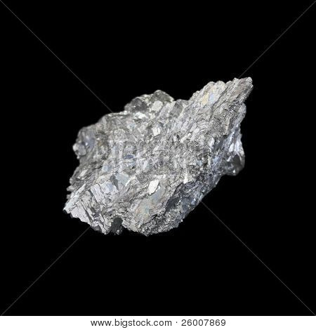 Antimony, minor metals on black backgroud