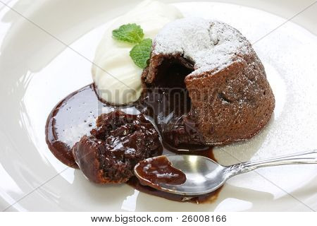 Hot Chocolate Pudding , Fondant au chocolat