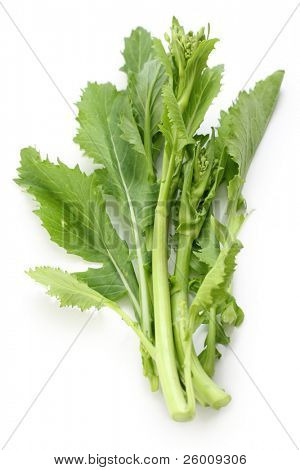 turnip tops , cime di rapa , italian leaf vegetable