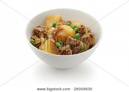 nikujaga , simmered meat and potatoes , japanese food