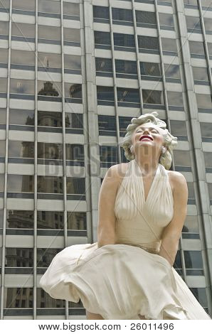 Marilyn Monroe on Chicago's Magnificent Mile