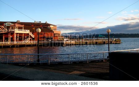 Pier At Puget Sound In Seattle