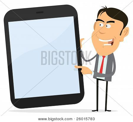 Businessman Showing Tablet Pc