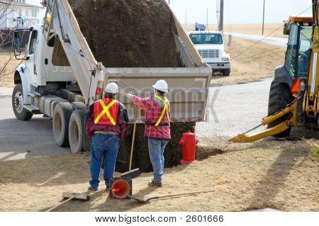 Dumping Gravel