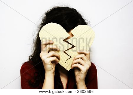 broken wafer heart