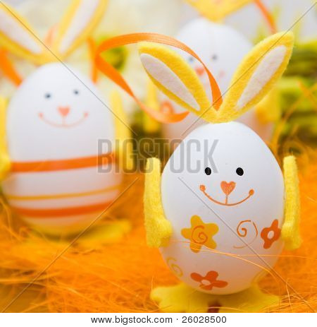 Bunny shaped easter eggs