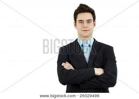 Young Business Man Arms Crossed