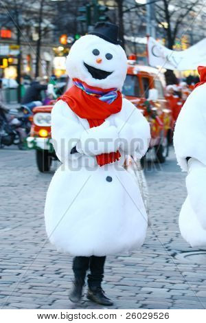 Helsinki, Finland - November 20: Traditional Christmas Street Opening In Helsinki On November 20, 20