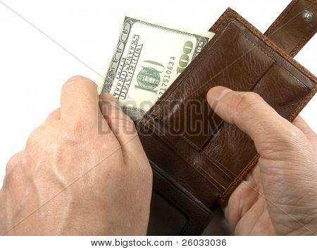 Carteiras com dólares