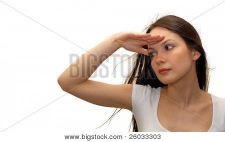 Woman looking forward
