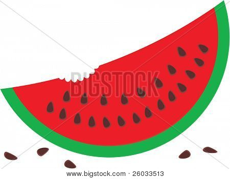 Watermelon with seeds