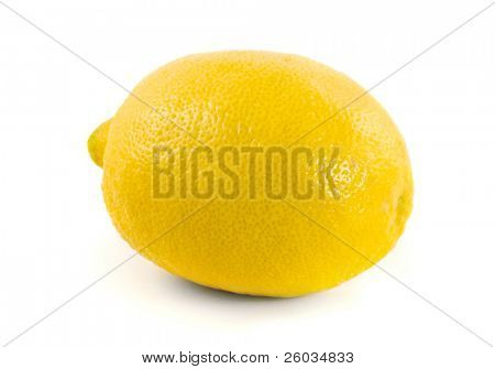 Tropical fruit lemon on white background