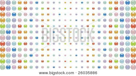 Abstract background from multi-coloured glass buttons. Vector illustration