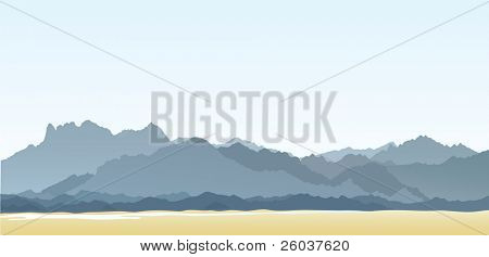 Mountains and hills. Vector illustration