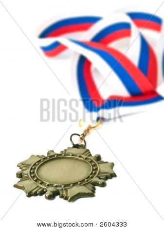 Medal And Three Colour Ribbon