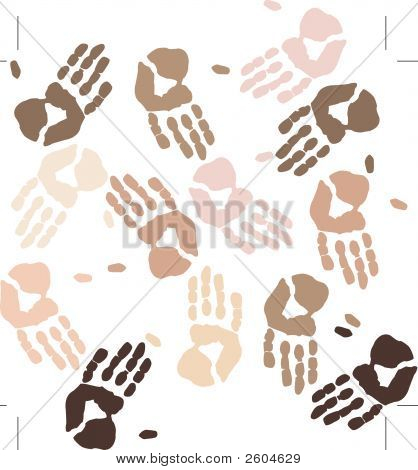 Ethnic Hands Background.Eps