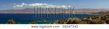 Panorama of Mediterranean sea and peninsula Akamas, Cyprus
