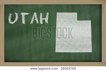 Outline Map Of Utah On Blackboard