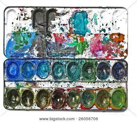 dirty watercolor box